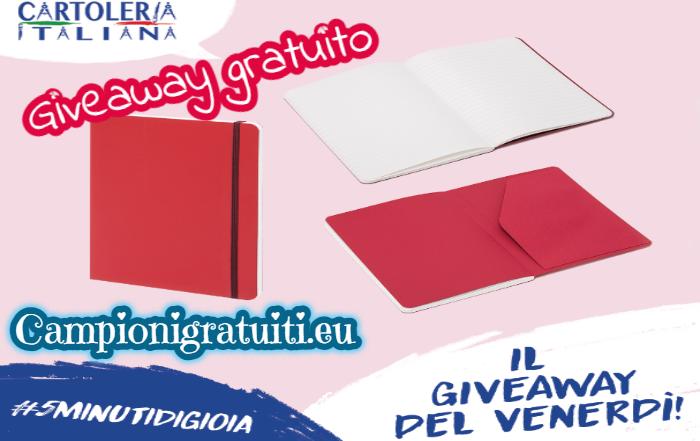 Giveaway Cartoleria Italiana vinci Taccuino Fabriano Ispira