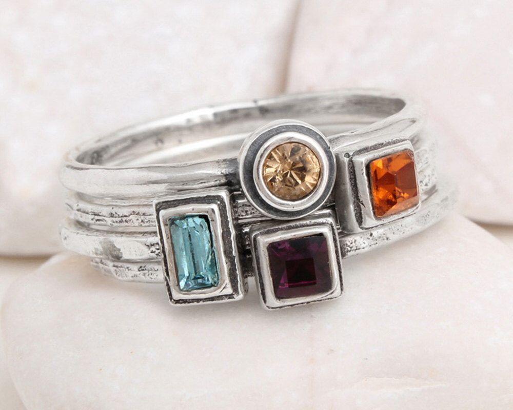 925 Sterling Silver Natural Rainbow Moonstone Half Braided Shank Minimalist Ring