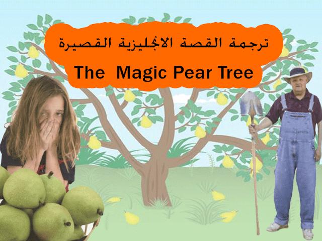 قصة بالانجليزي مترجمة سهلة جدا مناسبة للمبتدئين The Magic Pear Tree Tree Pear Trees Pear
