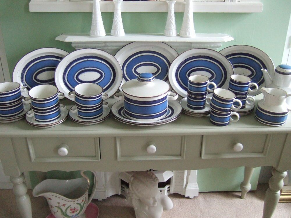Midwinter Pottery | eBay & Midwinter Stonehenge Oven to TablewareBlue Moon Six Setting Dinner ...