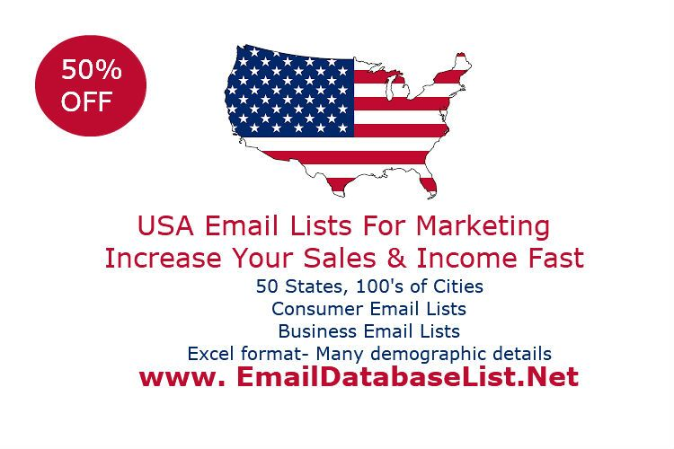 Email database list-USA email database-Email lists 50