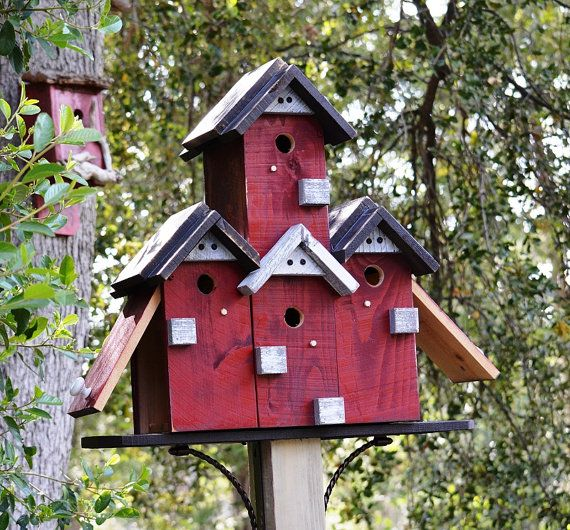 Large Birdhouse For Outdoors, SPECIAL ORDER, Post Mount