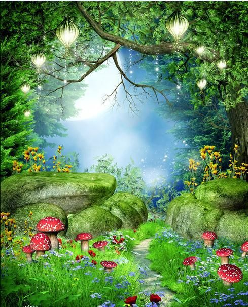 Fairy Garden Mural Google Search Forest Backdrops Photography