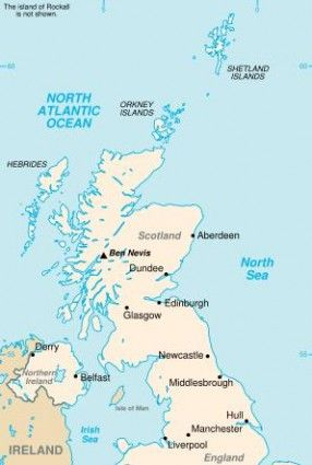 shetland islands scotland map Map Of Scotland Showing The Proximity Of The Shetland Islands