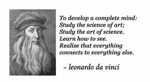 Everything Is Connected Quotes I Like Quotes Leonardo Da Vinci
