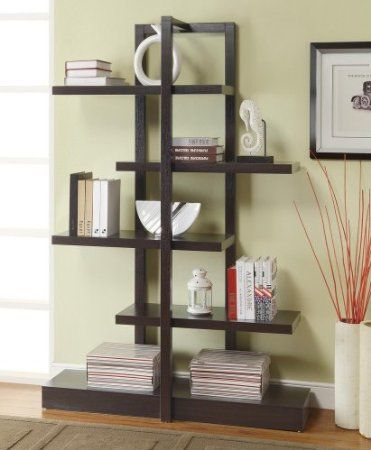 Amazon Asymmetrical Staggered Open Wooden Bookshelf Folding Patio Chairs Lawn Garden