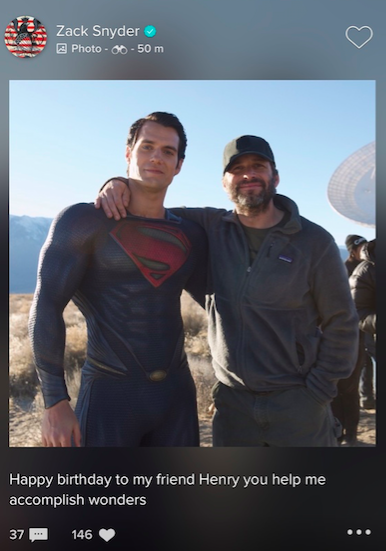 Justice League Zack Snyder Posts Thoughtful Birthday Message For Henry Cavill Henry Cavill Justice League Henry Cavill News