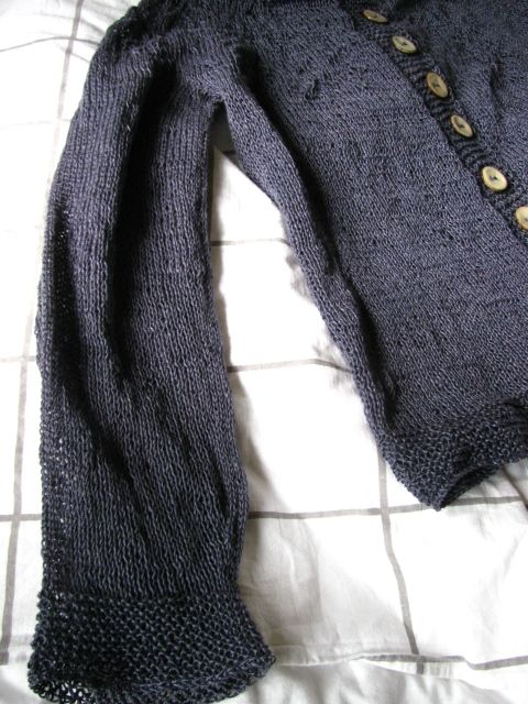 Cardigan for my mother, organic linen