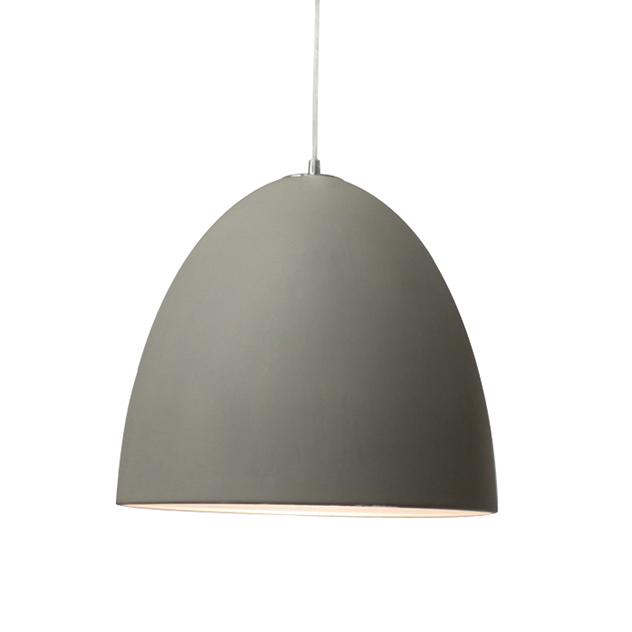 A sleek contemporary pendant light with a tactile understated matt finish