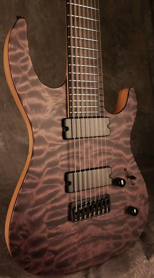 Carvin dc black stain quilted maple satin finish