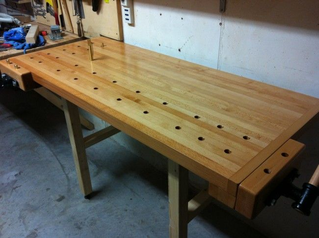 Tommy S Wall Mounted Folding Workbench The Wood Whisperer Folding Workbench Woodworking Bench Plans Workbench