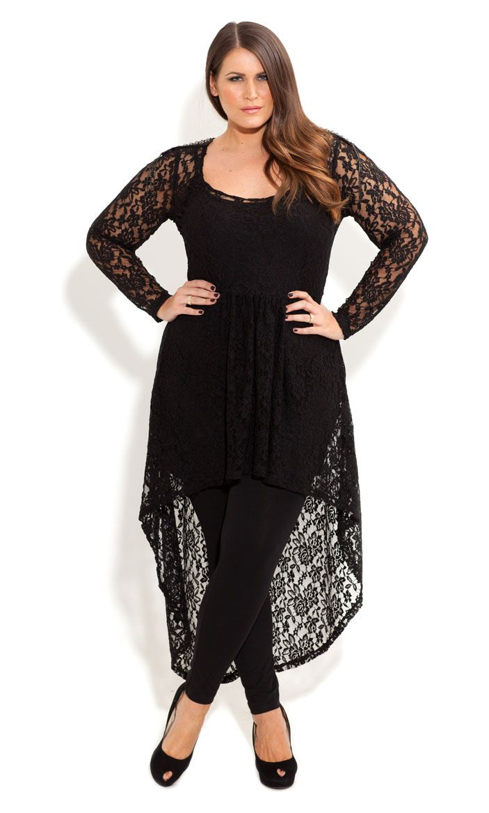 city chic lace armour tunic women 39 s plus size fashion. Black Bedroom Furniture Sets. Home Design Ideas