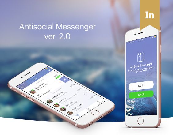 "다음 @Behance 프로젝트 확인: ""Application design - AntiSocial Messenger ver. 2.0"" https://www.behance.net/gallery/40763183/Application-design-AntiSocial-Messenger-ver-20"