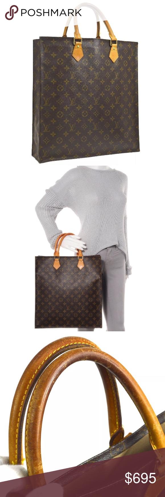 7d4078c56069 Big Bags · Authentic LOUIS VUITTON SAC PLAT MONOGRAM M51140 Authentic Louis  Vuitton Pre-owned