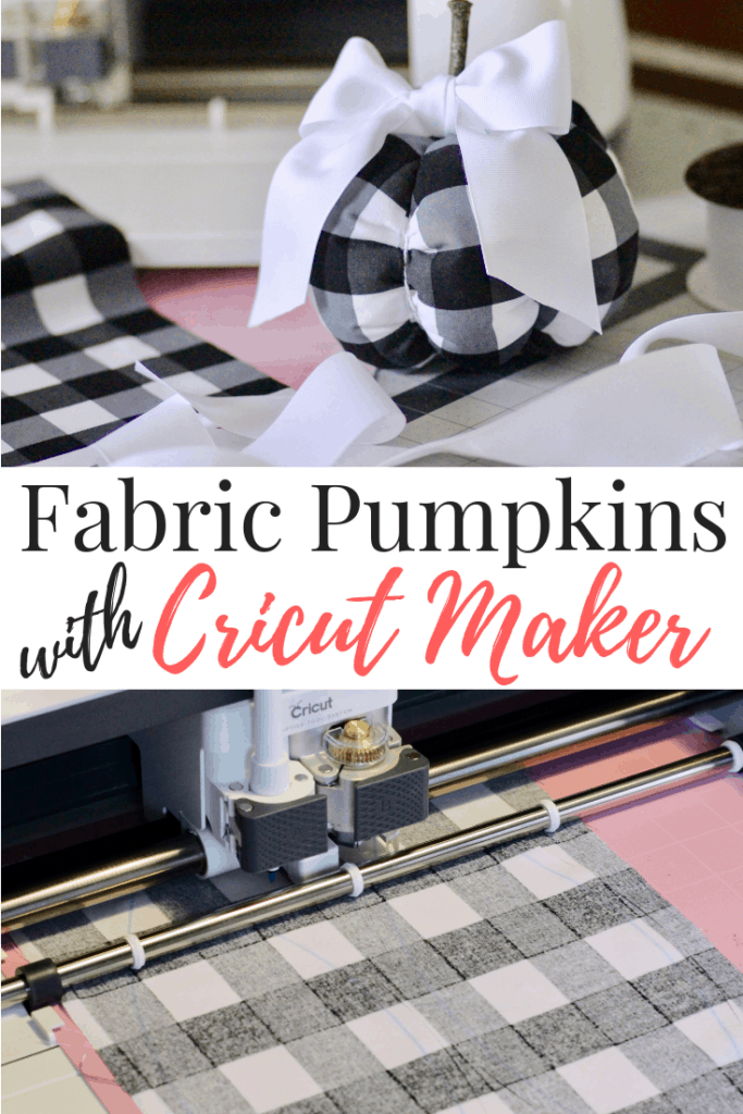 Fabric Pumpkins Sewing Project With The Cricut Maker - Through My Front Porch