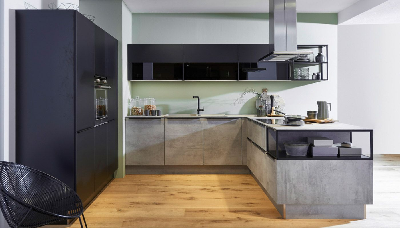 Nolte German Kitchen Kitchenology Nolte Kitchens Kitchen Stone Modern Beton Schwarz German Feel Dynamically K In 2020 Kuchen Ruckwand Kuchendesign Modern Kucheninsel