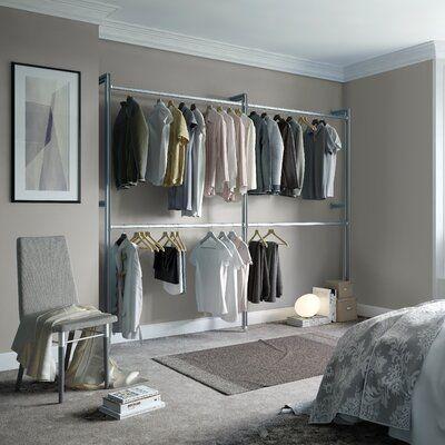 Wfx Utility Humberto 100 W Closet System Open Closet Systems Minimalist Bedroom Design Closet Organizing Systems