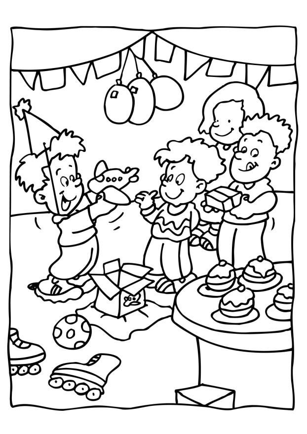 Child Coloring Birthday Party Coloring Coloring Pages Monster