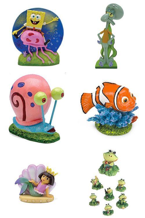 Decoración temática para acuarios infantiles • Decorations for aquariums for kids