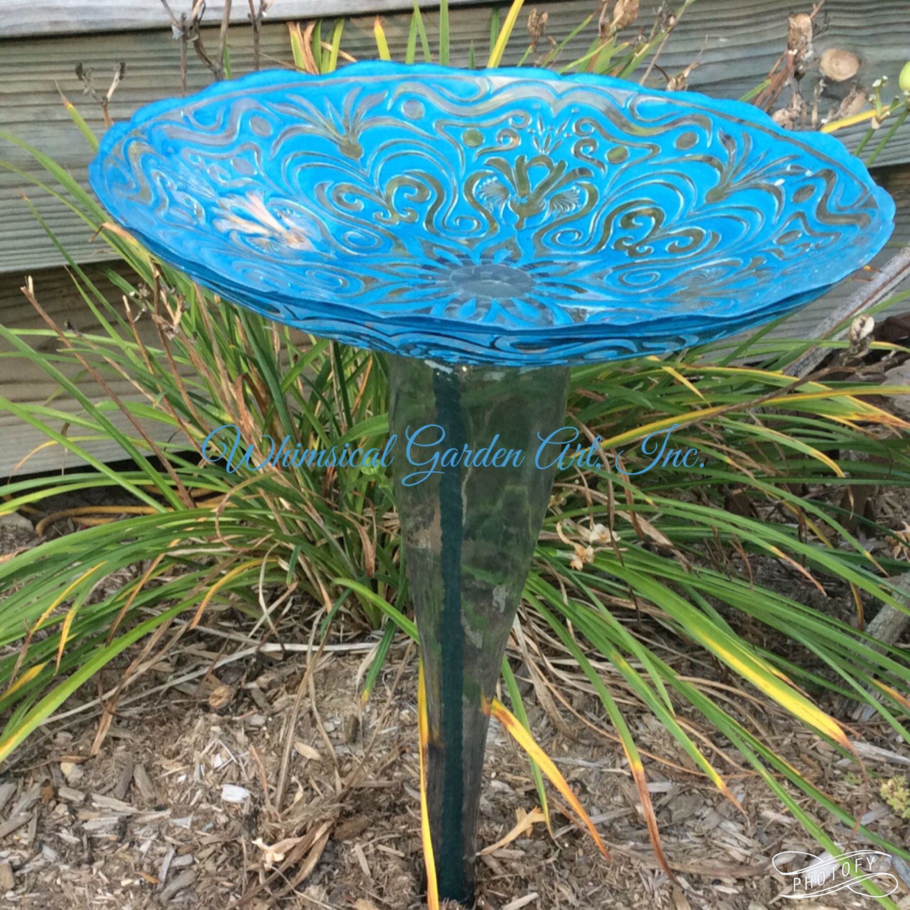 Bird Bath By Whimsical Garden Art, Inc.