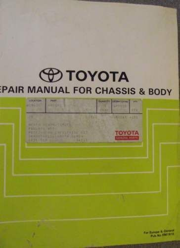 toyota starlet chassis body repair manual 1989 rm181e jacks car rh pinterest co uk 1990 toyota starlet workshop manual toyota starlet ep91 repair manual