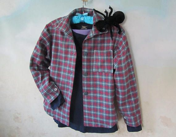 d01686556 Girl s Meg Murry Plaid Flannel Shirt Only  A Wrinkle In Time - All ...