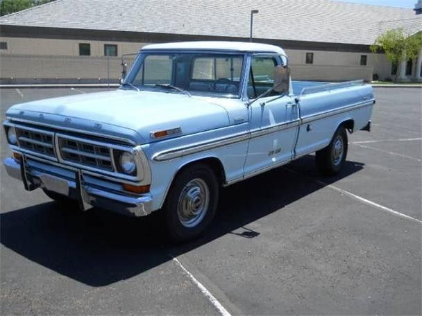 1971 F100 Baby Blue With Images Ford Pickup Ford Trucks