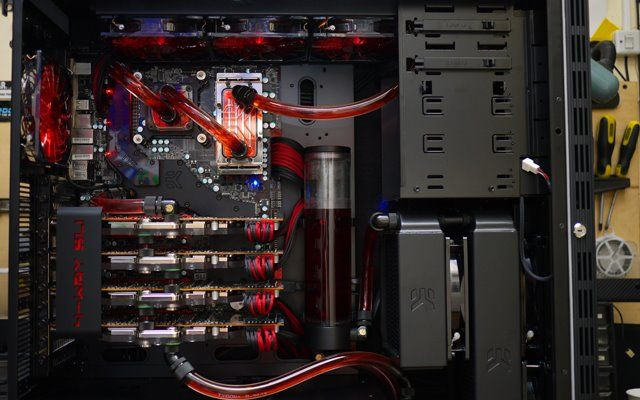 Nice Watercooling Loop Would Loe To Have 4 Gpu S One Day