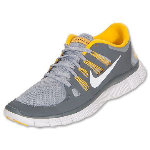 online retailer e6610 99419 2013 Nike Free Run 5.0+ SZ 9 Livestrong LAF Cool Grey White ...