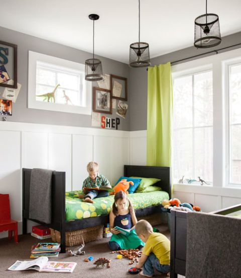 55 Kids\u0027 Rooms You\u0027ll Both Love Bunk bed sets, Window panels and