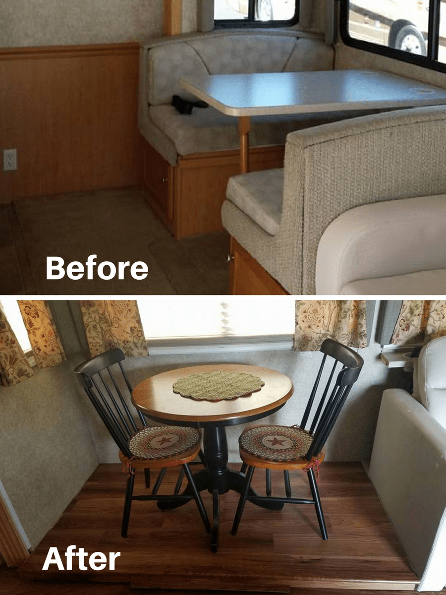 Lovely Table And Chairs To Replace Dining Booth In RV | RVs, Campers, Travel  Trailers, And Motorhomes Without The Dining Booth