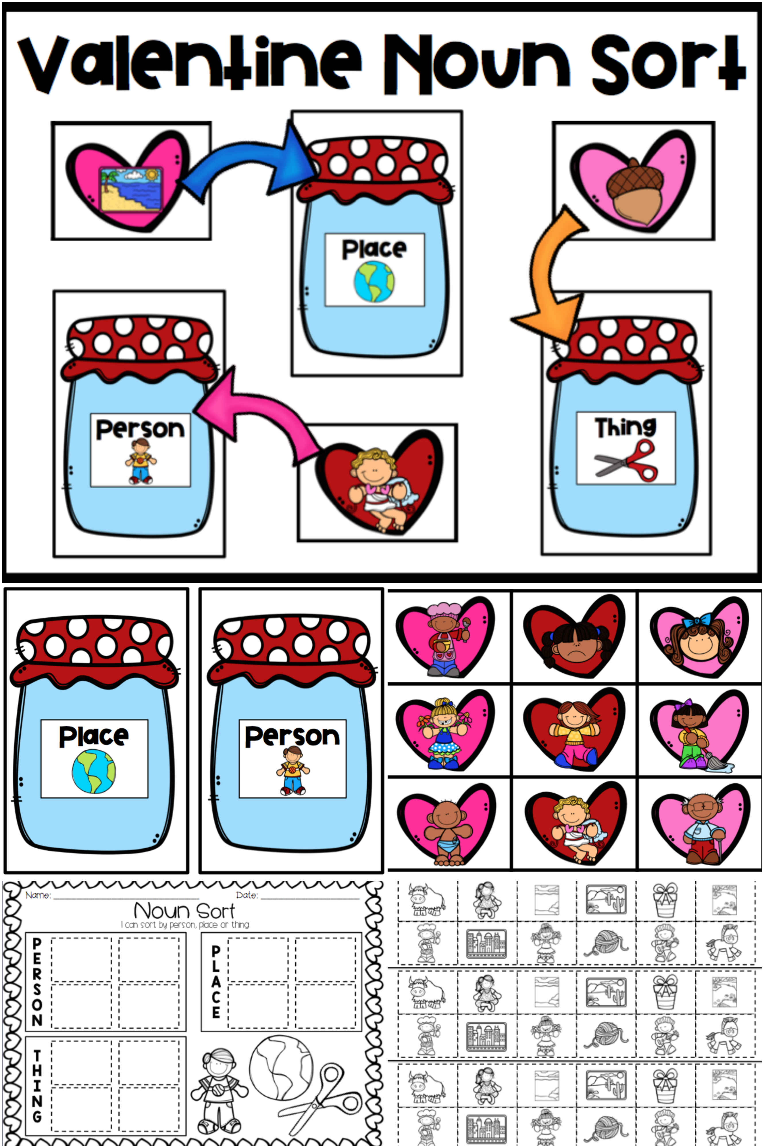 Valentine Noun Sort With Images