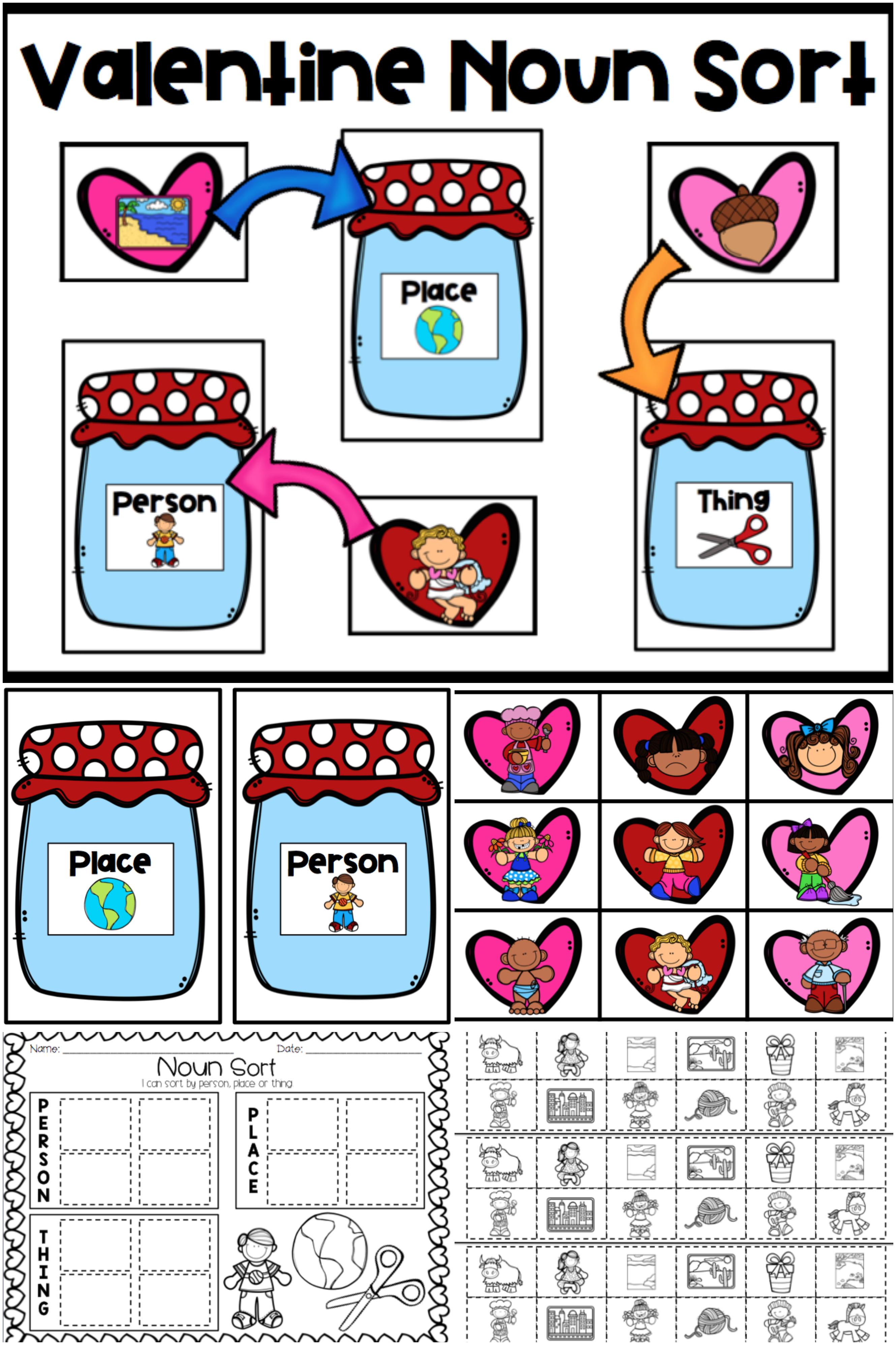 Valentine Noun Sort With Images