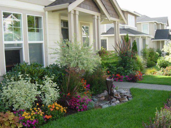 Gartengestaltung Vorgarten Dekorieren Gestalten Schön ästhetisch Fußweg