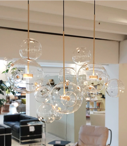 Glass Ball Bubble Sphere Chandelier | Chandelier in living