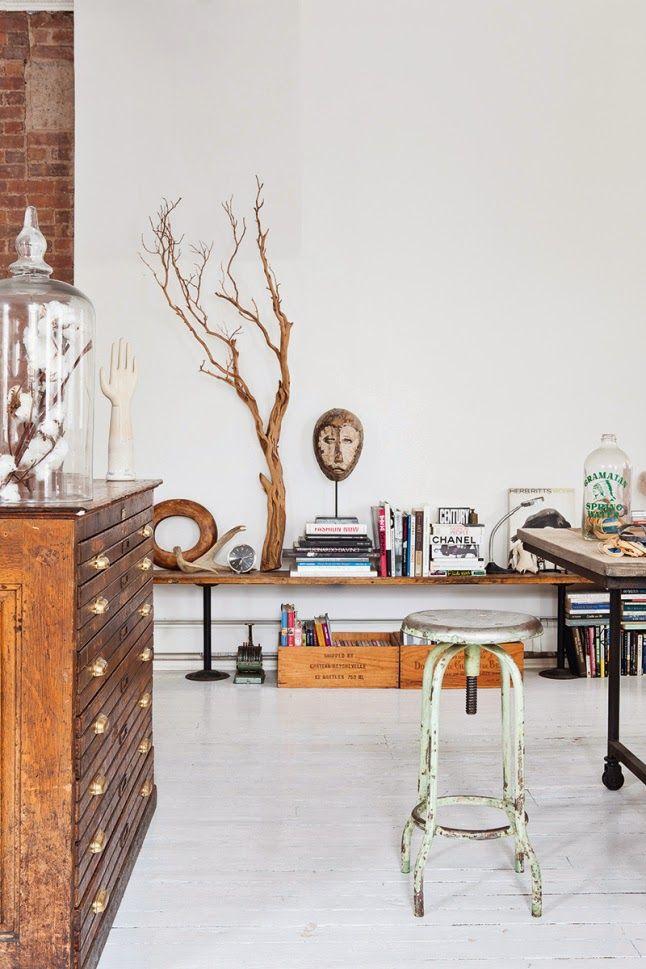 Virlova Interiorismo: [Interior] Vivir entre paredes de ladrillo y piezas vintage en Manhattan