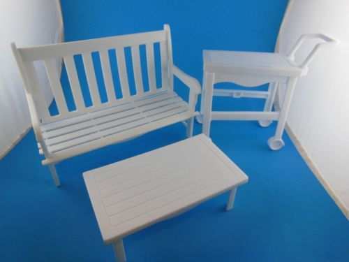 1995 Barbie Doll Garden Or Patio Furniture Set 3 Pieces | EBay