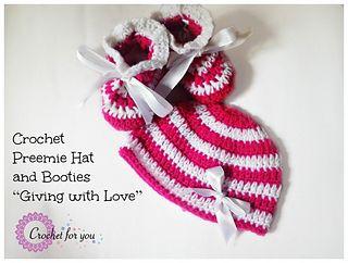Crochet Preemie Hat ~ free pattern