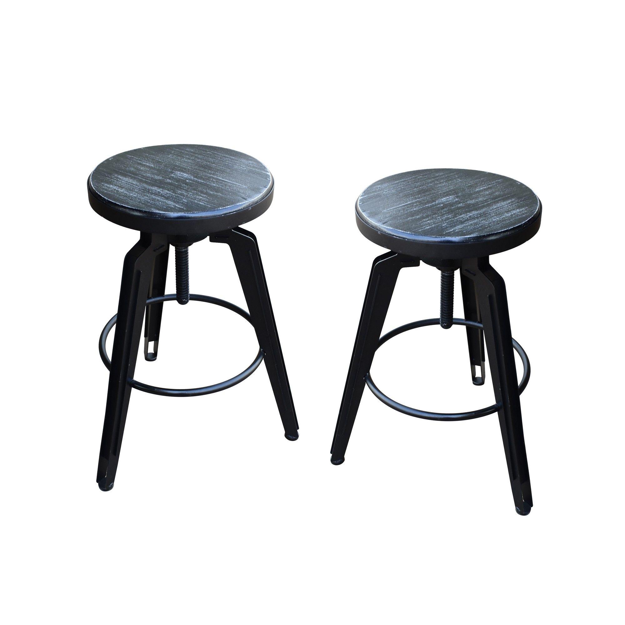 Awe Inspiring Set Of 2 Counter And Bar Stool Dark Gray Christopher Forskolin Free Trial Chair Design Images Forskolin Free Trialorg