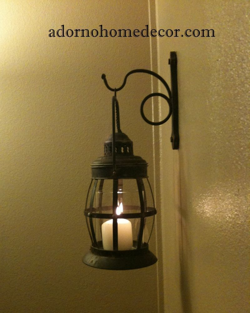 Metal Lantern Wall Sconce Rustic Industrial Antique Vintage Shabby Chic  Unique  Unbranded bebde96cb