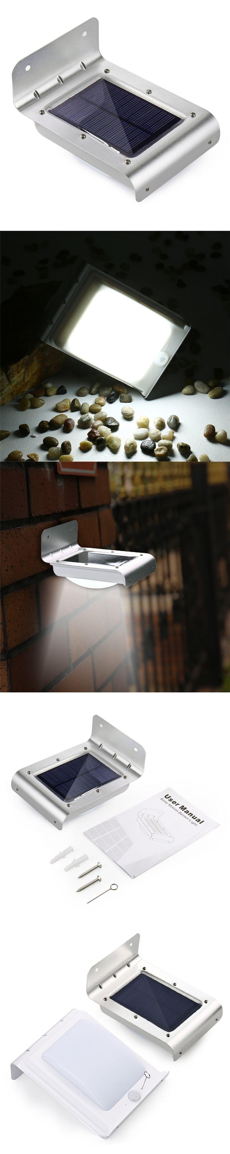 led solar power lamp motion sensor outdoor lighting garden path