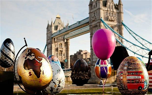 An Eggs-citing spectical! London Easter Egg Hunt