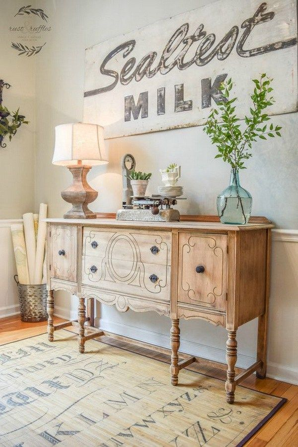 20 Awesome Farmhouse Decoration Ideas Sideboard DecorRustic SideboardDining Room