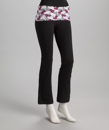 8cb73bd3b Black & Pink Hello Kitty Yoga Pants by Hello Kitty on zulily ...