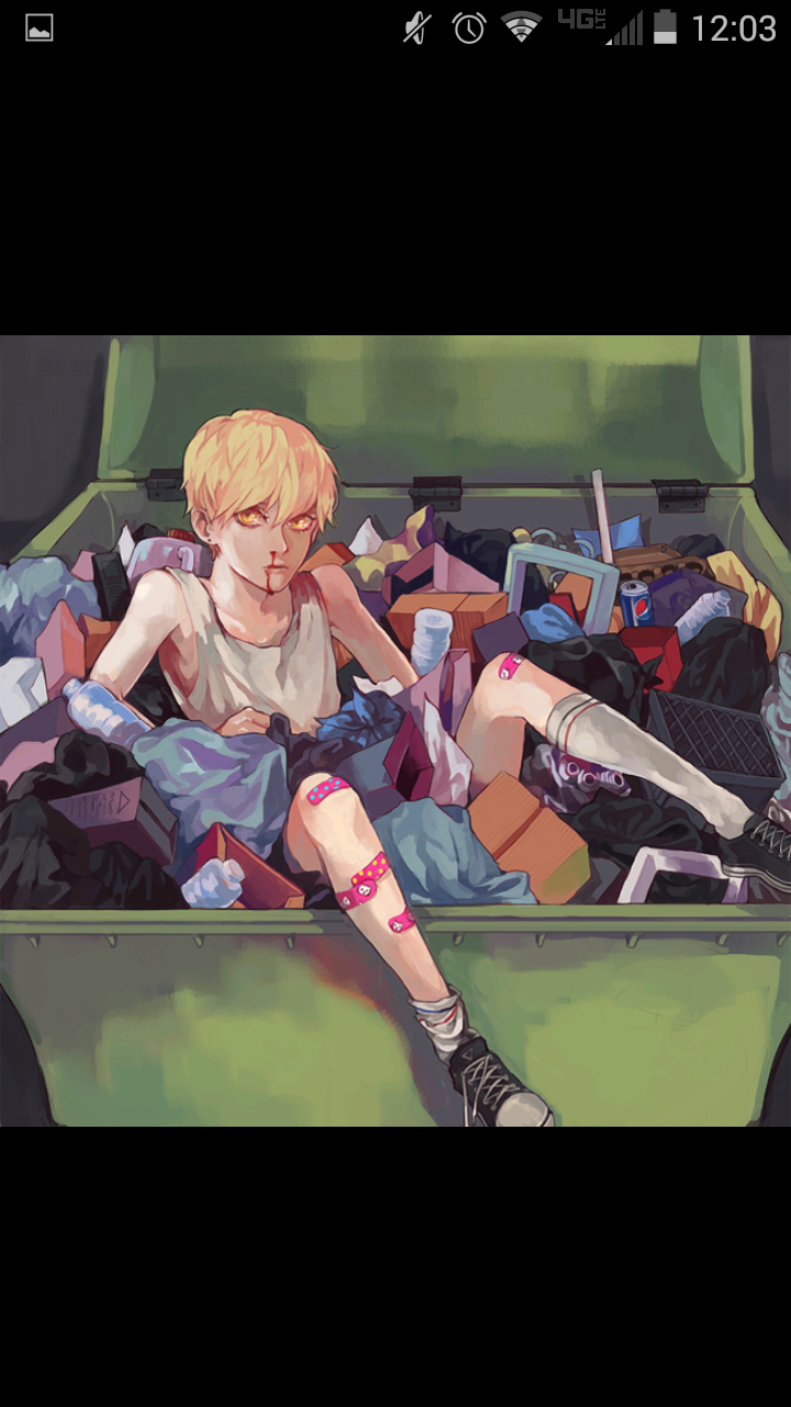 Literal garbage. Literally me. It leaves the mystery of why he's there, and why his nose is bleeding. Faye has the same band-aids from the Greenhouse Photo- but different sneakers. Most of all, I like the shading. I wan't shading to be portaited.