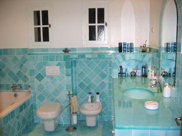 Salle de Bains lave Turquoise 1
