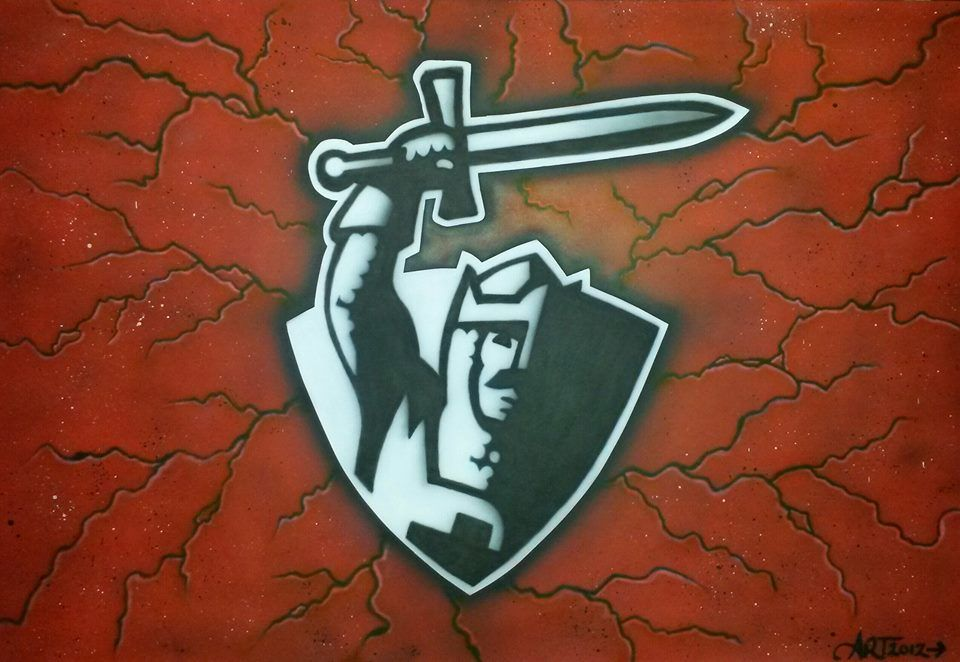 Crusaders Logo Artwork Airbrushed By Allysha Taylor