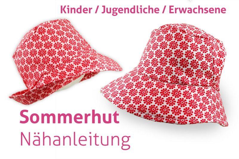 Nähanleitung+Frauen+Sommerhut+Hut+Sonnenhut+nähen+von+tikata+-+ ...