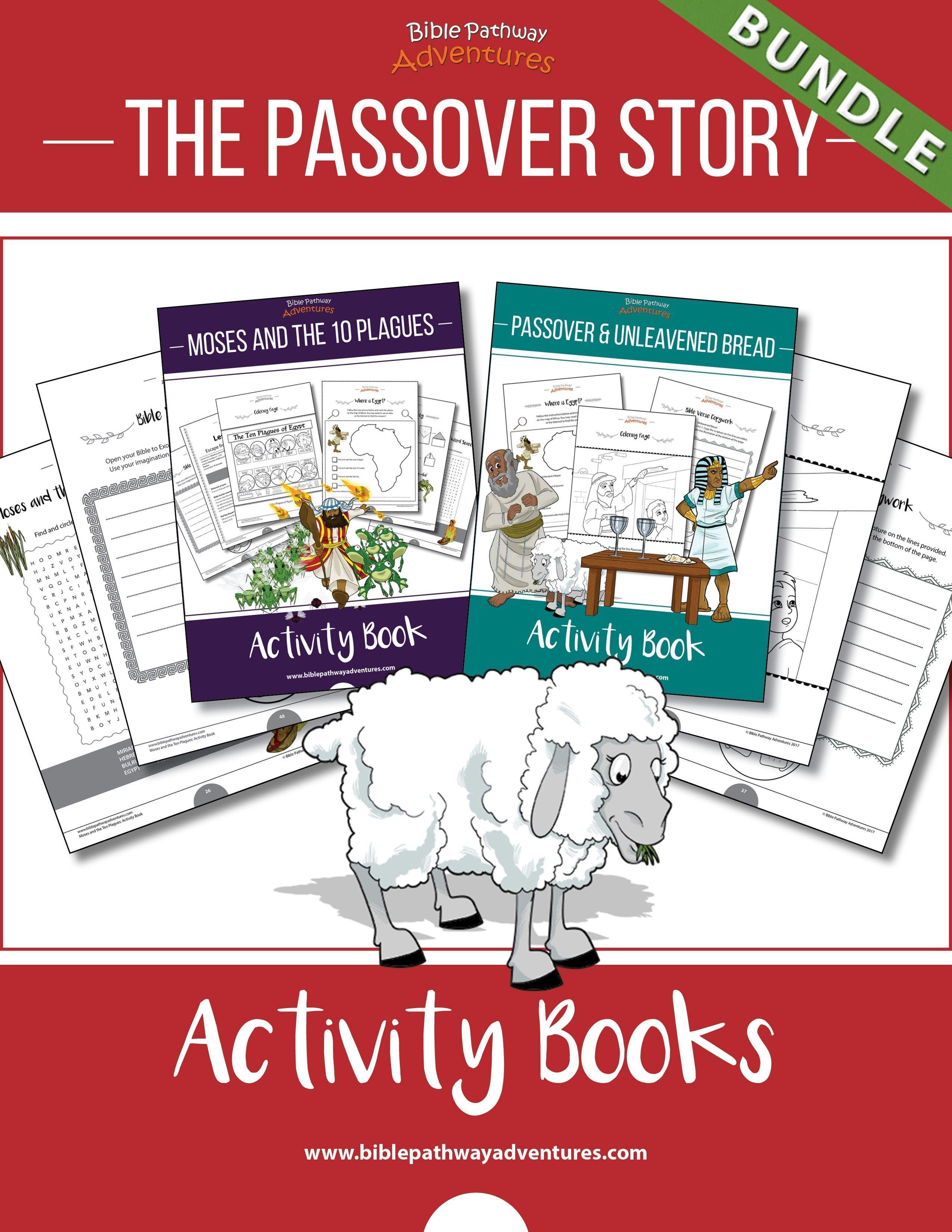 Passover Story Activity Books Bundle