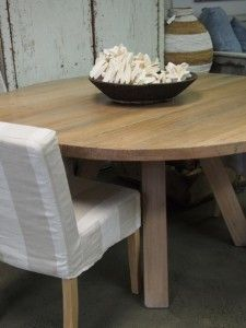 Locally Made Reclaimed Timber Round Table Beachwood Furniture - Beachwood dining table